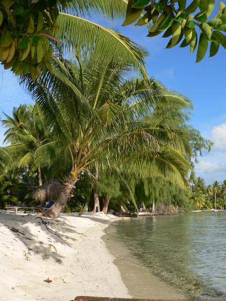 Tahaa canoe dans le lagon de Tahaa